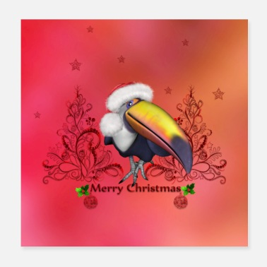 Merry Funny toucan wish you a merry christmas - Poster