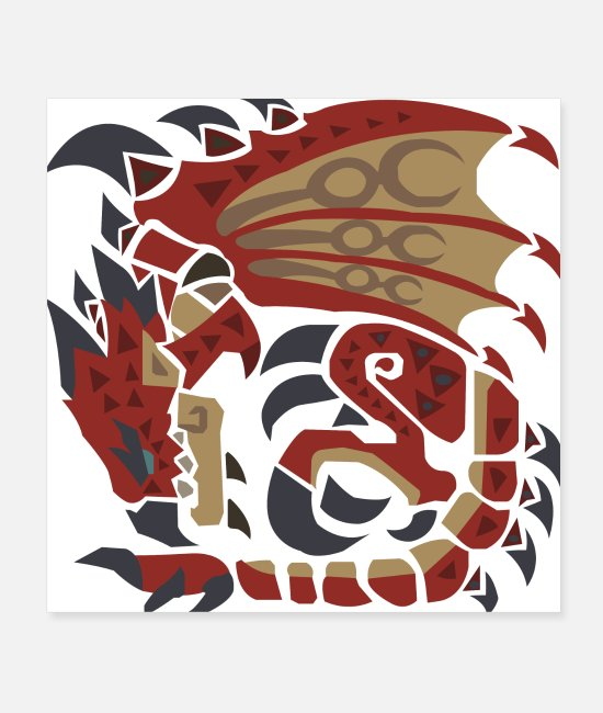 Medieval Posters - Dragon Monster - Posters white