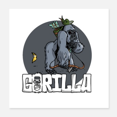 Trauqe Gorilla Hunting - Poster