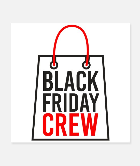 Coupon Posters - Black Friday Crew Funny Shopping Gift - Posters white