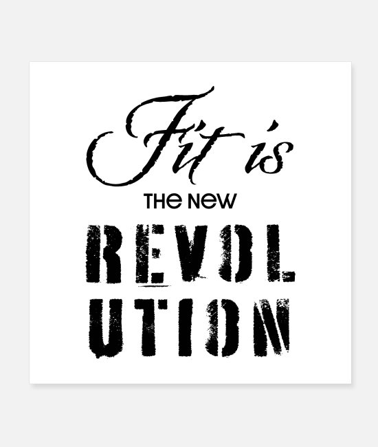 New World Order Posters - Fit is the New Revolution - Motivational Poster - Posters white