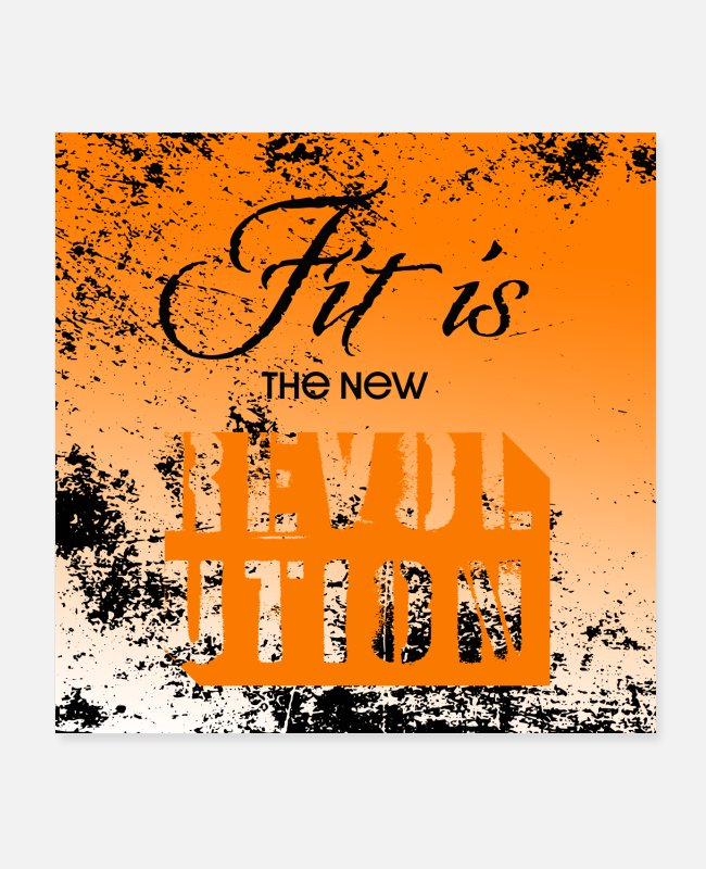 Training Posters - Fit is the New Revolution - Motivational Poster - Posters white