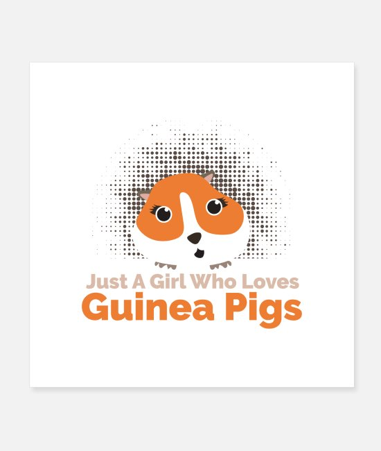 Love Posters - Guinea Pig Just a girl who loves Guinea Pigs - Posters white