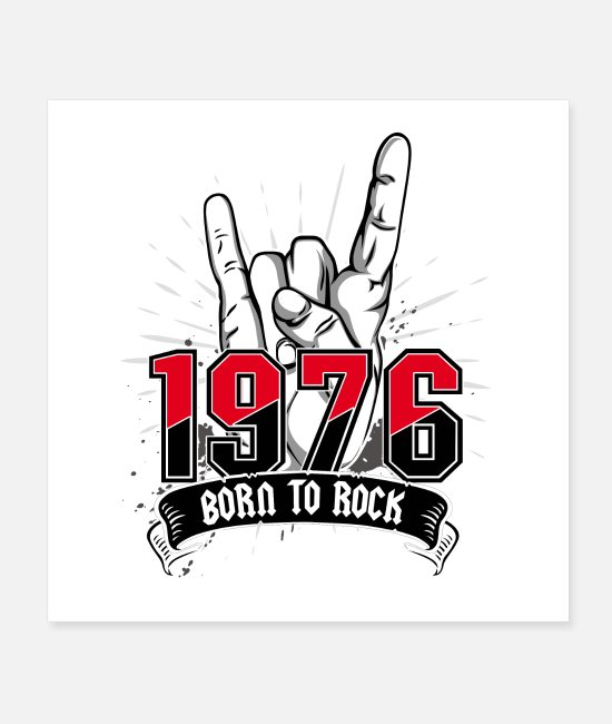 Festival Posters - Born To Rock, 1976 - Posters white