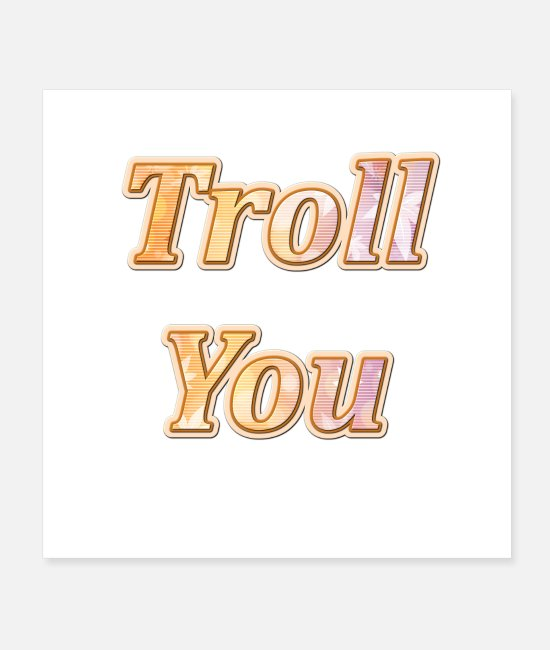 Occupation Posters - Troll you - Posters white