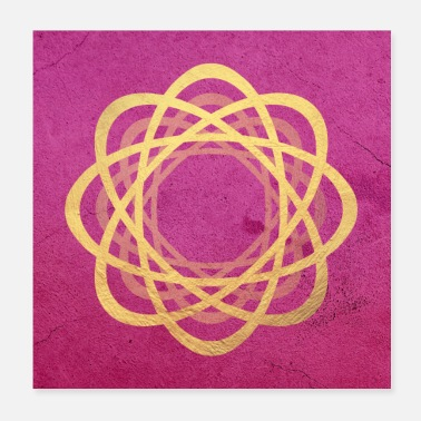 Deluxe Poster Yoga Gold Deluxe Meditation Mandala - Poster