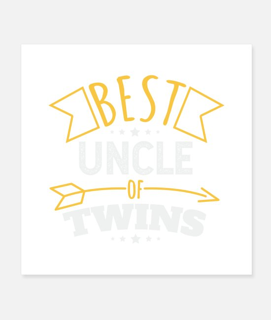 Uncle Posters - Gemini Best Uncle Of Twins Funny Gift Idea - Posters white