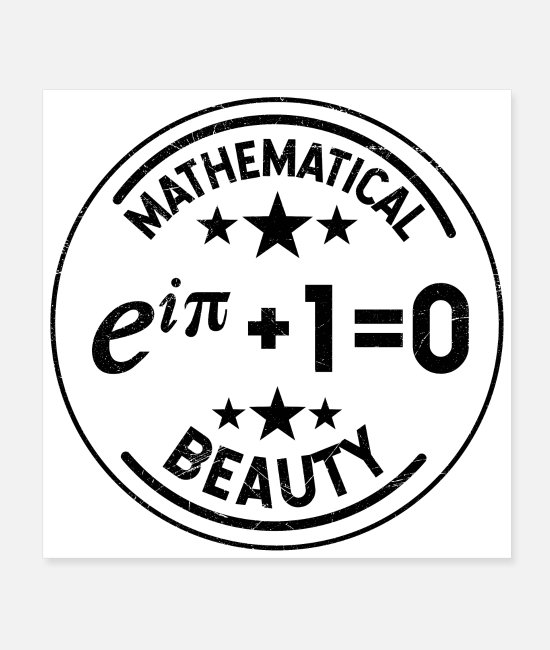 School Posters - Mathematics Symbols Mathematical Beauty Eulers Gift - Posters white