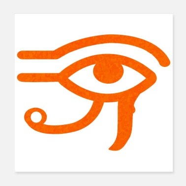 Egitto Egitto Sybmol Eye of Horus Idea regalo divertente - Poster