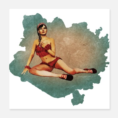 Pin-up Vintage pin-up jente - Poster