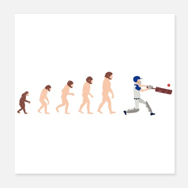 Darwin Human Evolution Cricket Grappig geschenkidee - Poster