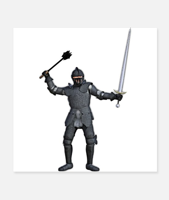 Fairy Tale Figure Posters - Knight - Posters white