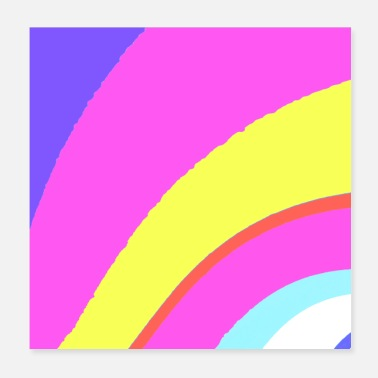 Colors Colored curve - Poster