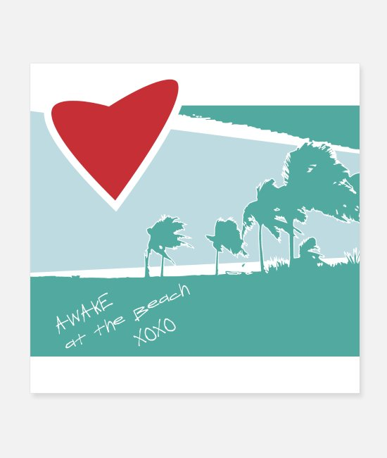 Heart Posters - Palm beach heart - Posters white