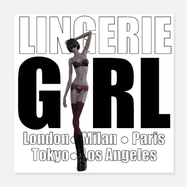 Underwear The Fashionable Woman - Lingerie Girl - Poster