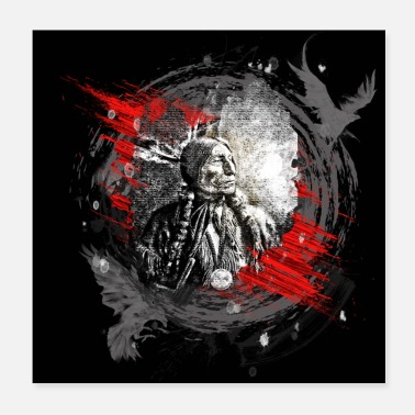 Iroquois Indian chief modern art - Poster