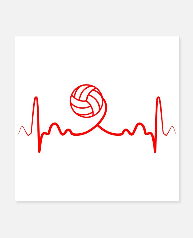New Zealand Posters - Heartbeat volleyball Funny gift idea - Posters white