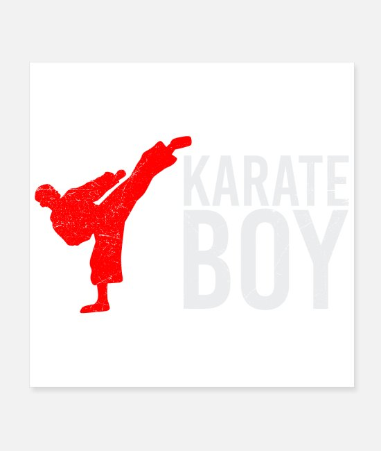 Martial Arts Posters - Martial arts karate boy high kick Funny gift - Posters white