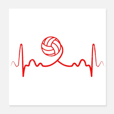 I Love Volleyball Heartbeat volleyball Funny gift idea - Poster