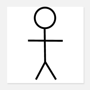 Figura stilizzata idea regalo idea tendenza stickman - Poster