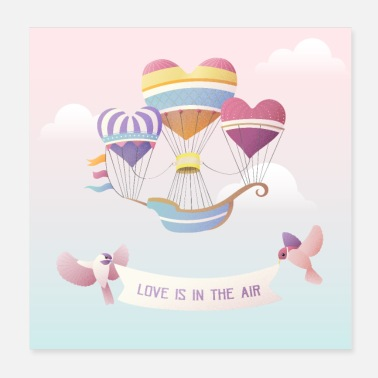 Bestseller Love is in the air - Poster