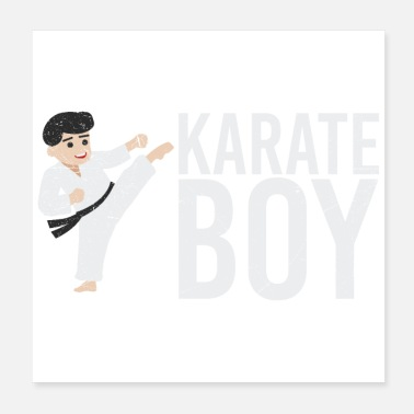 Taekwondo Boy Martial arts karate boy gift idea - Poster