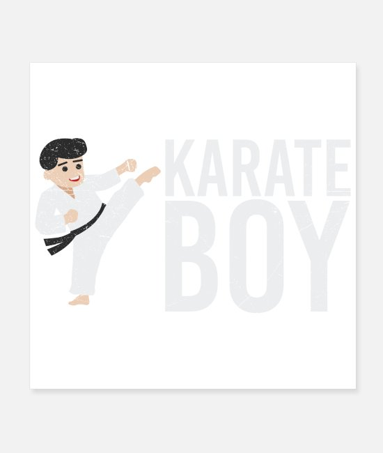 Mma Posters - Martial arts karate boy gift idea - Posters white