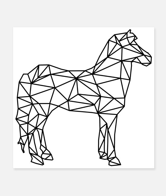Minimaliste Posters - cheval - Posters blanc