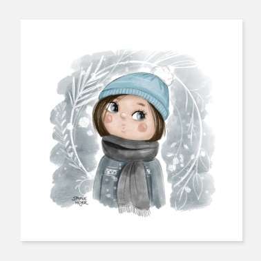 Juliste winter girl square - Juliste