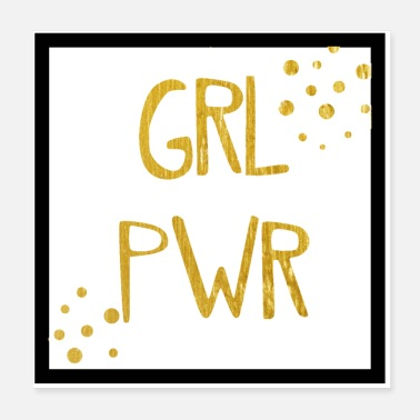 Black Girls Rock GRL PWR - girl power - gold - Poster