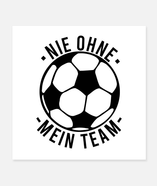 National Team Posters - Soccer team - Posters white