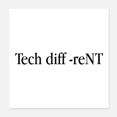 Tech Tech diffreNT - Poster