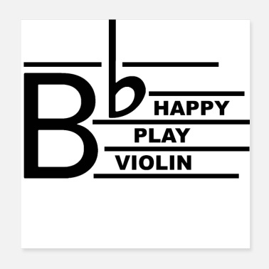 Cello Be Happy Violin - Poster