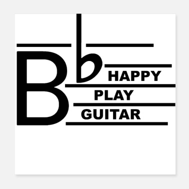 Guitar Player Be Happy Guitar - Poster