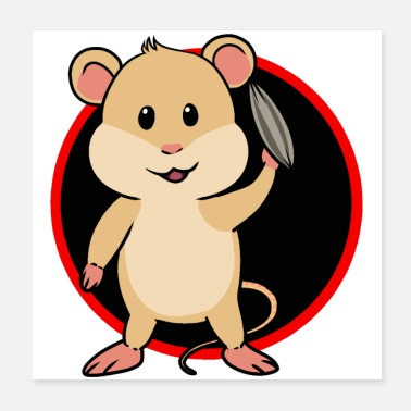 Rodent Happy mouse rodent rodent children hunger baby - Poster