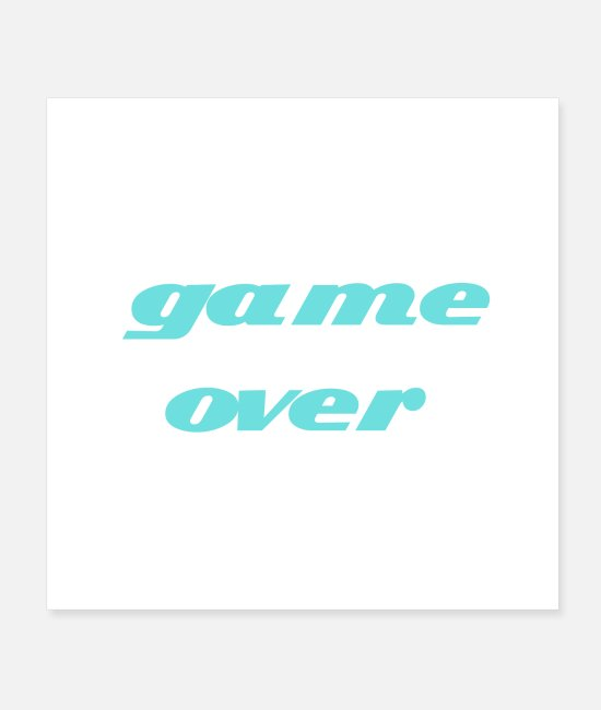 Logbook Posters - game over - Posters white