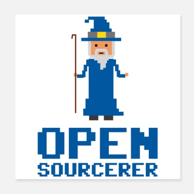 Open Sourcerer Developer Open Sourcerer Funny gift idea - Poster