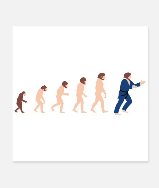 Martial Arts Posters - Evolution judo martial arts gift idea - Posters white