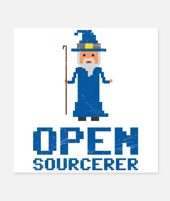 Programmemer Posters - Developer Open Sourcerer Funny gift idea - Posters white