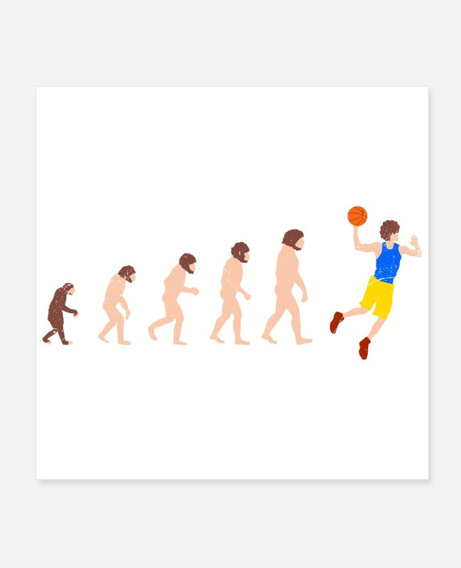 Christmas Posters - Evolution basketball player Funny gift idea - Posters white
