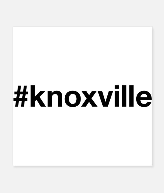 Knoxville Posters - KNOXVILLE - Posters white