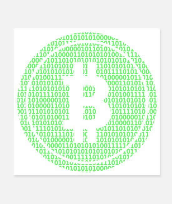 Program (what You Do) Posters - Binary code as bitcoin - Posters white