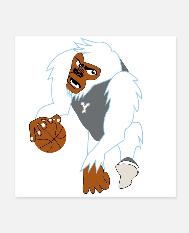 Basketball Player Posters - white gorilla - Posters white