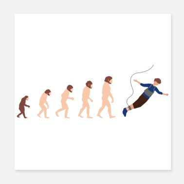 Jump Rope Evolution Bungee Jumping Funny gift idea - Poster