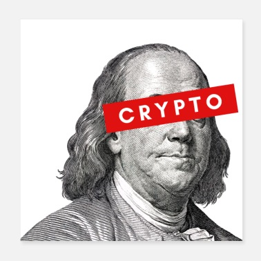 Javascript Crypto Benjamin Franklin cryptocurrency Blockchain - Poster