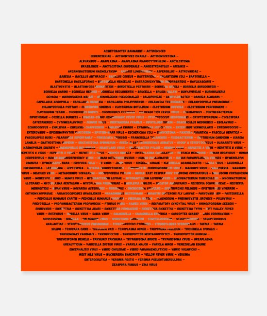 Virus Poster - Biohazard Viruses - Poster Weiß