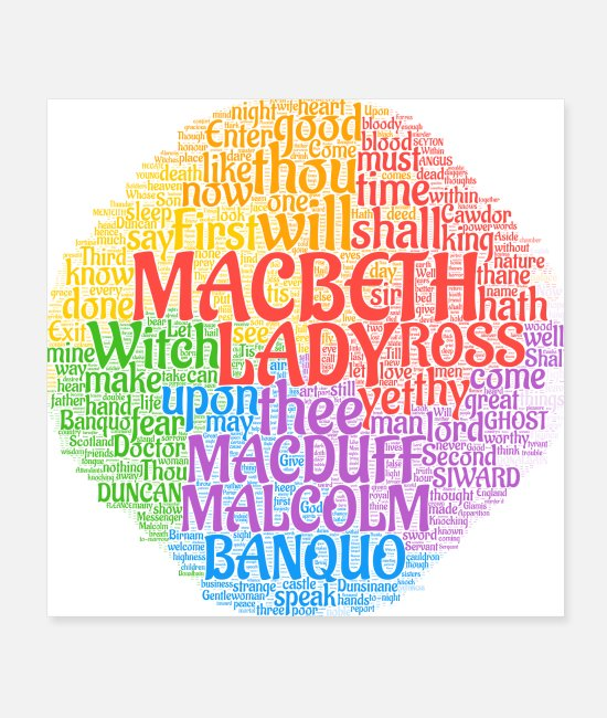 Play Posters - Macbeth The Scottish Play - Posters white
