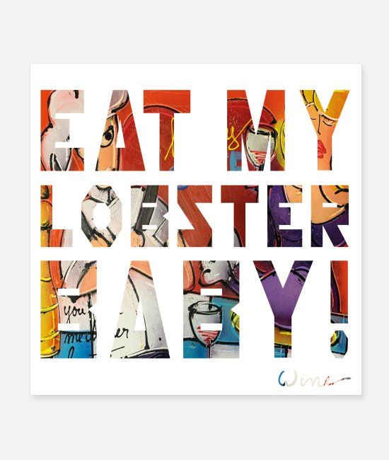 Master Posters - EAT MY LOBSTER T SHIRTS TEXT - Posters white