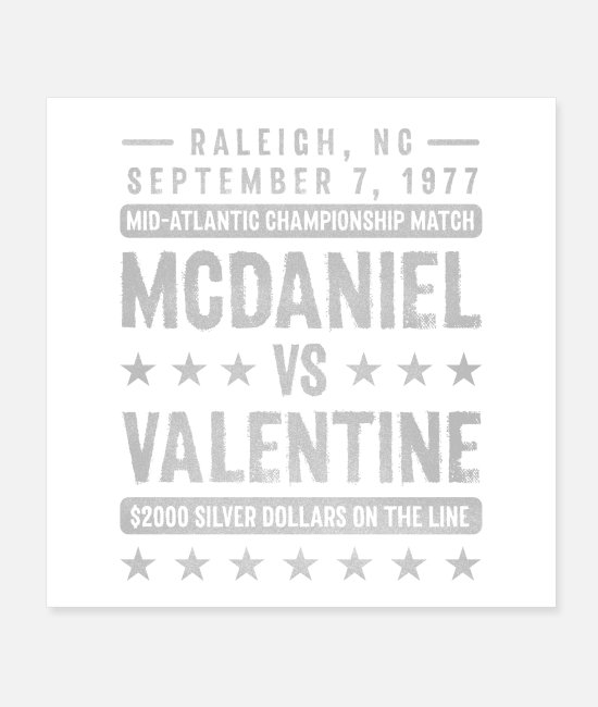 I Broke Wahoos Posters - McDaniel vs Valentine - Posters white