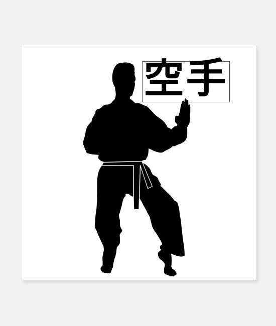 Martial Arts Posters - karate 2 - Posters white